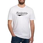 Marijuana Fitted T-Shirt