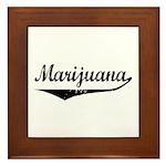 Marijuana Framed Tile