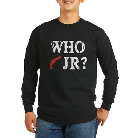 Who Shot J.R.? Long Sleeve Dark T-Shirt