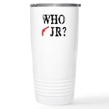 Who Shot J.R.? Stainless Steel Travel Mug