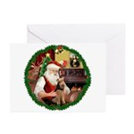 Santa's Welsh T Greeting Cards (Pk of 20)