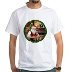 Santa's Welsh T White T-Shirt