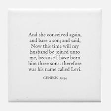 GENESIS  29:34 Tile Coaster
