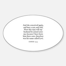 GENESIS 29:34 Oval Decal