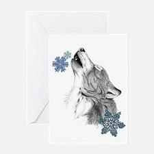 Snowflake Howl Greeting Card