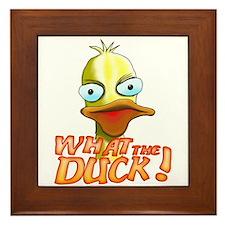 What the Duck! Framed Tile