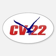 'CV-22' Oval Decal
