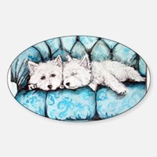 Westie Couch Potatoes Decal