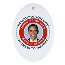 Obama Inauguration Day Christmas Ornament