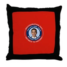Obama Inauguration Day Throw Pillow