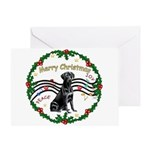 XmasMusic2/Lab (black) Greeting Card