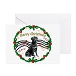 XmasMusic2/Lab (black) Greeting Cards (Pk of 20)