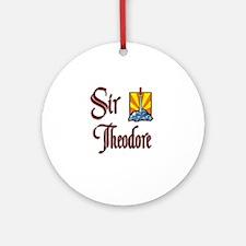 Sir Theodore Ornament (Round)