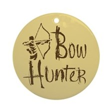 Bow Hunter Ornament (Round)