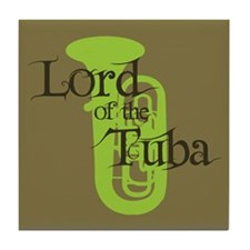 Lord of the Tuba Tile Coaster
