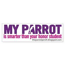 Smarty Parrot Bumper Bumper Sticker