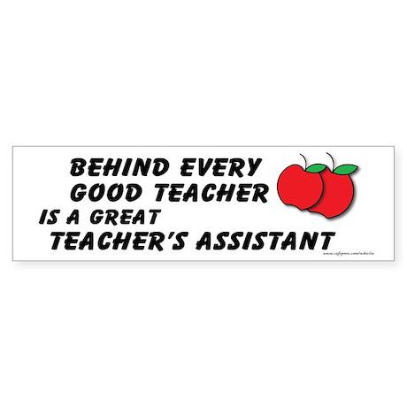 Great Teacher's Assistant Sticker (Bumper)