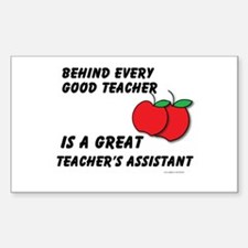 Great Teacher's Assistant Sticker (Rectangle)