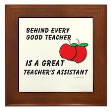 Great Teacher's Assistant Framed Tile