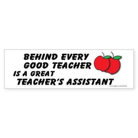 Great Teacher's Assistant Sticker (Bumper 50 pk)
