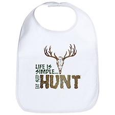 Eat Sleep Hunt Bib