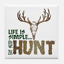 Eat Sleep Hunt Tile Coaster