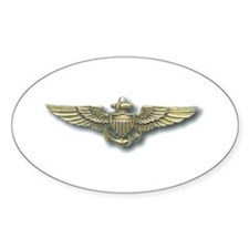 'Naval Aviator Wings' Oval Decal