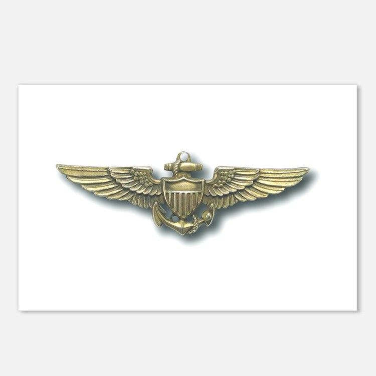'Naval Aviator Wings' Postcards (Package of 8)
