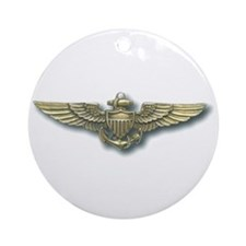 'Naval Aviator Wings' Ornament (Round)