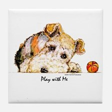 Wire Fox Terrier Tile Coaster