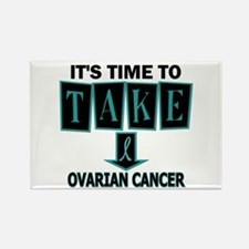 Take Down Ovarian Cancer 3 Rectangle Magnet