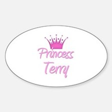Princess Terry Oval Decal