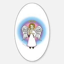 I-Love-You Angel Oval Decal