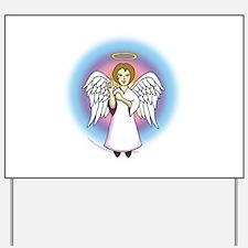 I-Love-You Angel Yard Sign