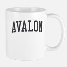 Avalon New Jersey NJ Black Mug