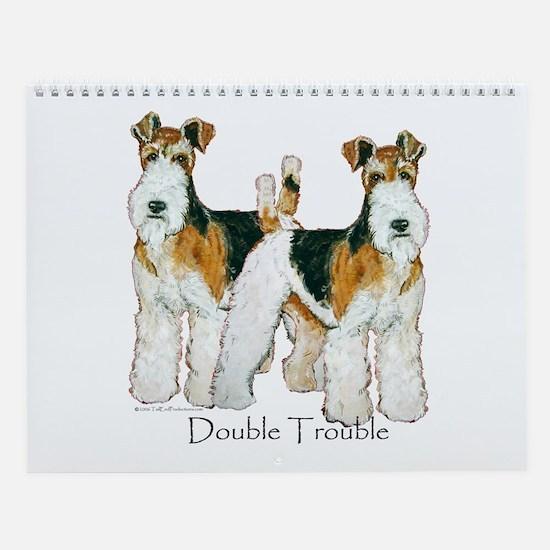 Fox Terrier Trouble! Wall Calendar