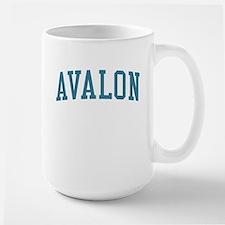 Avalon New Jersey NJ Blue Large Mug