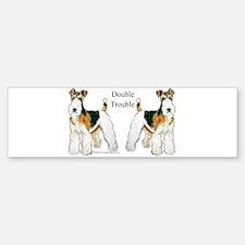 Fox Terrier Trouble! Bumper Bumper Bumper Sticker
