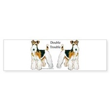 Fox Terrier Trouble! Bumper Bumper Sticker