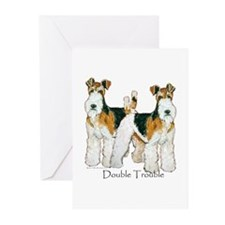 Fox Terrier Trouble! Greeting Cards (Pk of 10)