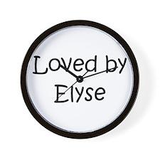 Funny Elyse Wall Clock
