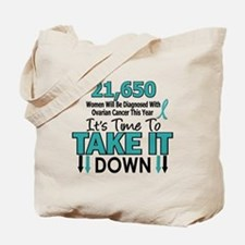 Take Down Ovarian Cancer 4 Tote Bag
