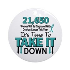 Take Down Ovarian Cancer 4 Ornament (Round)