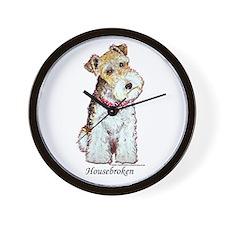 Fox Terrier Pup Wall Clock