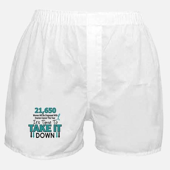 Take Down Ovarian Cancer 4 Boxer Shorts