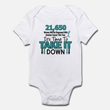 Take Down Ovarian Cancer 4 Infant Bodysuit