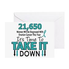 Take Down Ovarian Cancer 4 Greeting Card