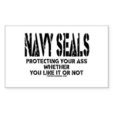 NAVY SEALs Protecting Your As Rectangle Decal