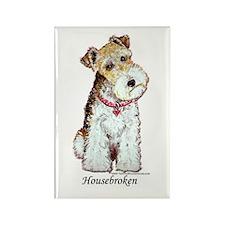 Fox Terrier Pup Rectangle Magnet