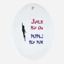Jalen - Ninja by Night Oval Ornament
